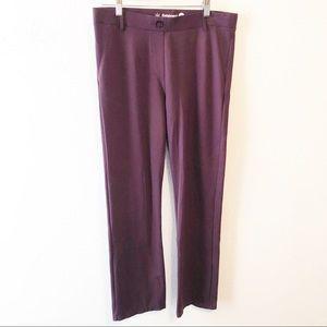 Betabrand eggplant purple yoga work pants size LgP